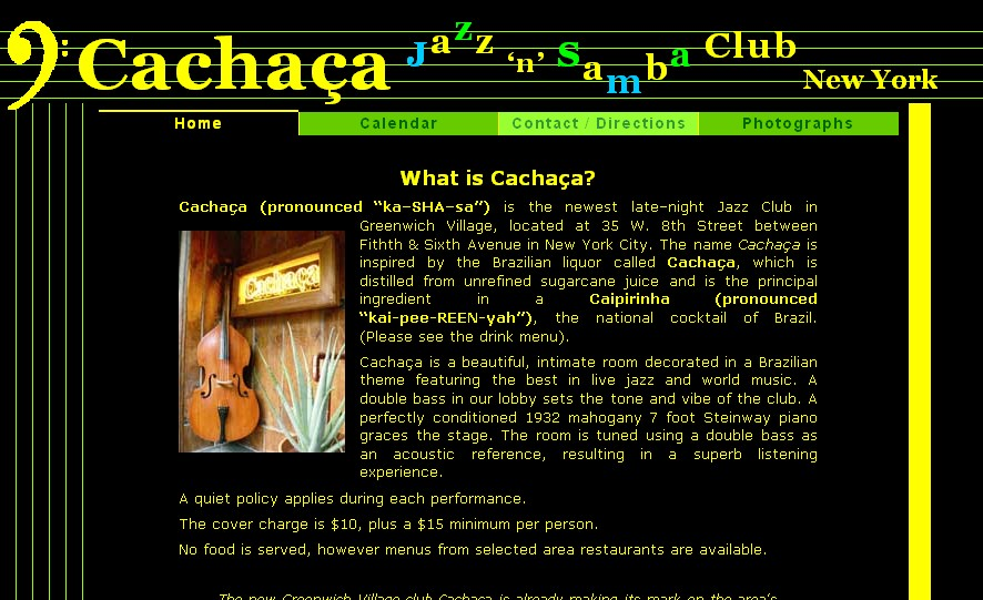 cachacajazz.com homepage