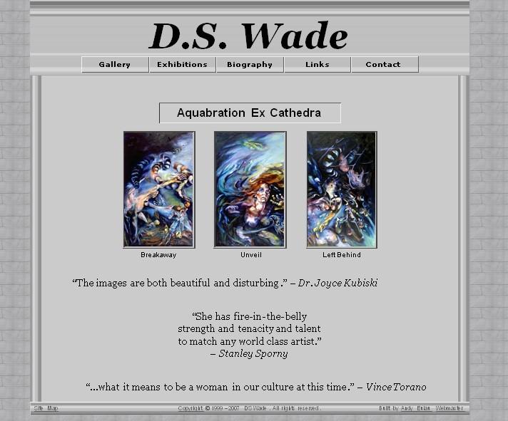 dswadeartist.com screenshot